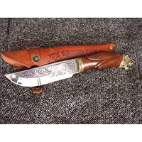 Нож охотничий Nb Art Медведь Гризли 22k10 подарочный нож для охотника рыбака в чехле в ножнах