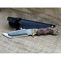 Нож охотничий Nb Art Лев 22k13 подарочный нож для охотника рыбака в чехле в ножнах
