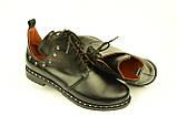 Туфлі дитячі для дівчаток низький хід на шнурках шкіра чорний KARMEN, фото 4