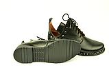 Туфлі дитячі для дівчаток низький хід на шнурках шкіра чорний KARMEN, фото 6