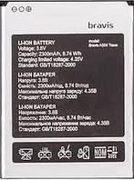 Аккумулятор АКБ для Bravis A504 Trace | X500 Trace Pro (Li-ion 3.8V 2300mAh) Оригинал Китай