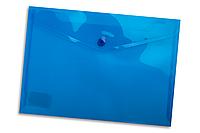 Папка-конверт на кнопке А5 Buromax BM.3936 полупрозрачная Синий