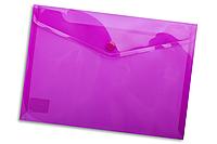 Папка-конверт на кнопке А5 Buromax BM.3936 полупрозрачная Фиолетовый