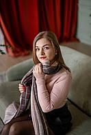 Женский шарф гофре коричневый