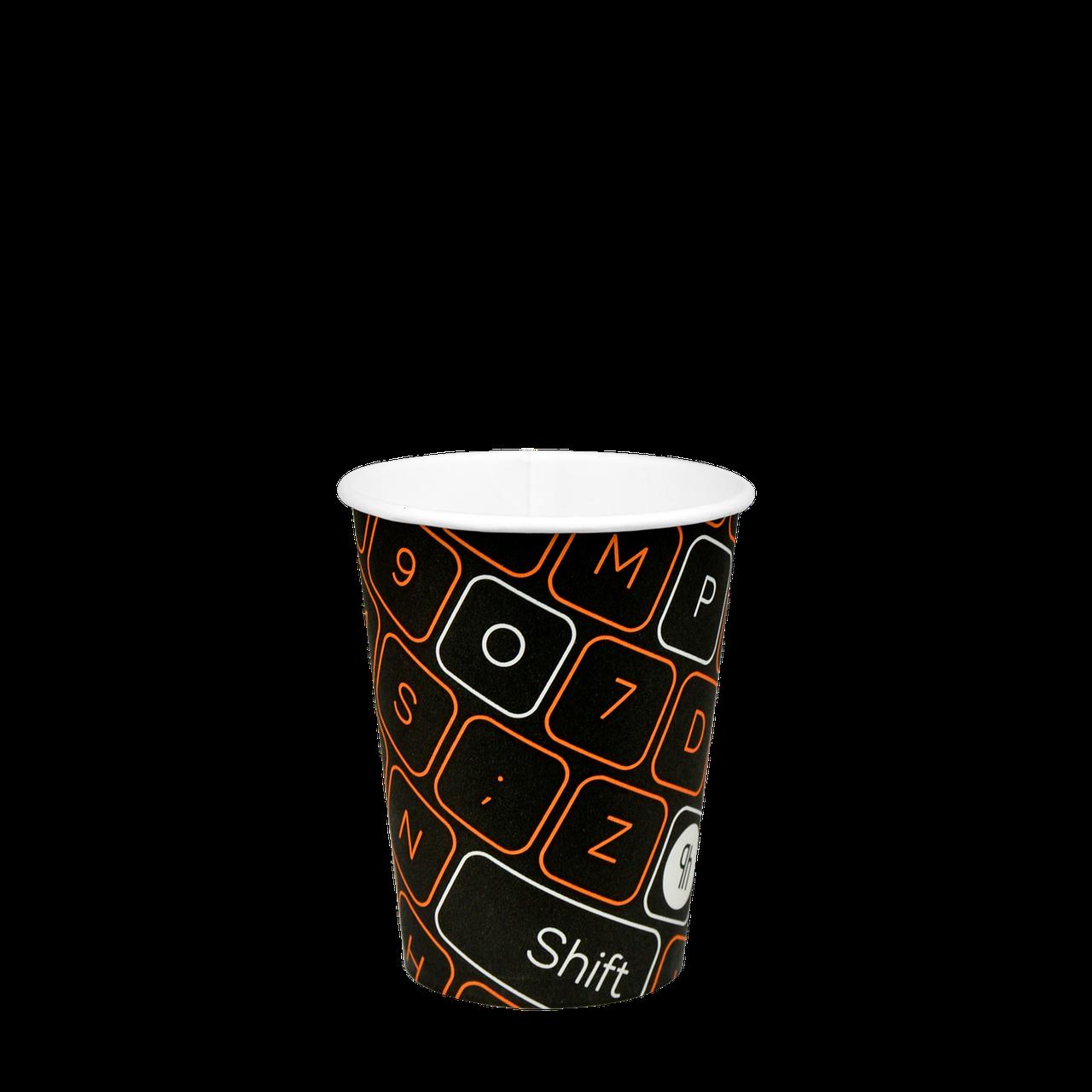 "Стакан бумажный ""#Parol"" 250мл. 50шт/уп (1ящ/48уп/2400шт) (КР75)"