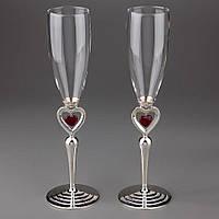 Свадебные бокалы Veronese 2 шт 1027G пара парные бокалы для шампанского на свадьбу на торжество