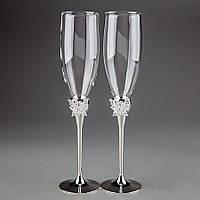 Свадебные бокалы Veronese 2 шт 1013GT пара парные бокалы на свадьбу на торжество для шампанского