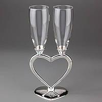 Свадебные бокалы Veronese 2 шт 1010G пара парные бокалы на свадьбу на торжество для шампанского