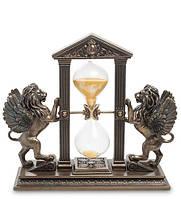 Часы настольные песочные Veronese Крылатые львы 20х18 см 1904310 веронезе лев с часами статуэтка
