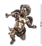 Статуэтка  Veronese Ангел с трубой 19 см 1906300 фигурка ангелок ребенок веронезе