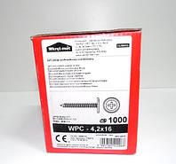 Саморез с прессшайбой Wkret-met WPC 4,2x16 мм по металлу острый без бура упаковка 1000 штук