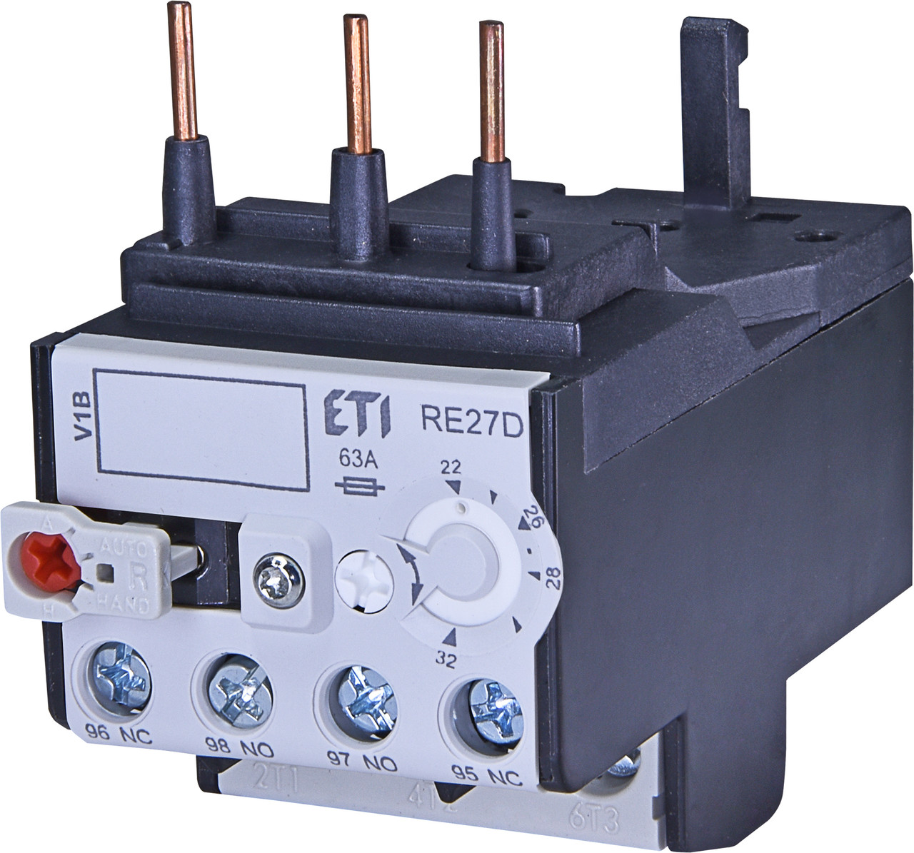 Тепловое реле ETI RE 27D-32 (15-23A) CEM9-CEM25 46424014 (для контакторов CEM9, CEM12, CEM18, CEM25)