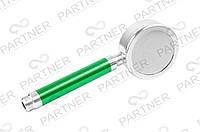 Лейка душа алюминиевая разборная с фильтром, цвет ручки зеленый