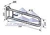 Поручень инвалидный  пристенный для унитаза откидной с держателем туалетной бумаги, Ø 32мм - 700мм, фото 2