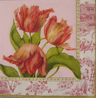 "Салфетка для декупажа ""Розовые тюльпаны"""