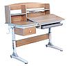 Растущий стол - парта для школьника TULIPA GREY.FunDesk