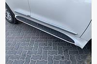 Боковые подножки - пороги (дизайн 2012-2016) Toyota LC 200 ЦВЕТ ЧЕРНЫЙ И БЕЛЫЙ