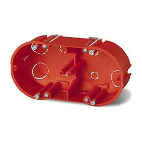 Подрозетник на 2 места SEZ IP20 135x61x46 мм PK-60F (для установки в гипсокартонные стены)