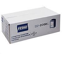 Салфетка для диспенсера FESKO - 2000 листов - бумажные размер 17*17 Рута сменный блок