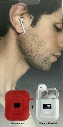 Навушники Hoco S11 White + Red silicone, фото 2