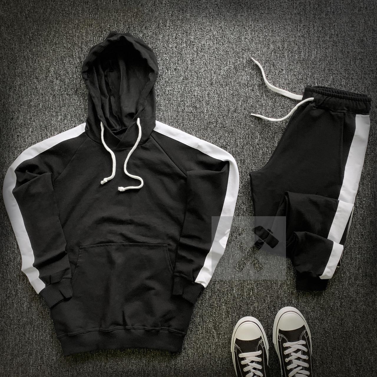 Костюм спортивный с лампасами   Комплект худи штаны весенние осенние