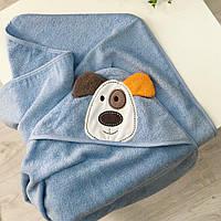 """Детское полотенце с уголком для купания """"Пёсик"""""""