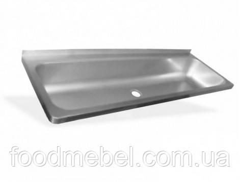 Рукомойник штампованный 1200x425x200 нержавеющая сталь
