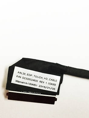 Оригинальный шлейф матрицы Dell DC020028400, 0VTF97, AAL20 (40pin lvds), фото 2