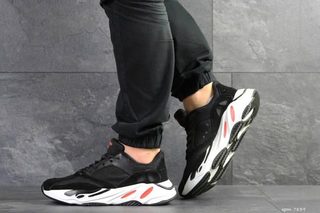Чорні чоловічі кросівки замзамша підошва піна 15\7839, фото 2