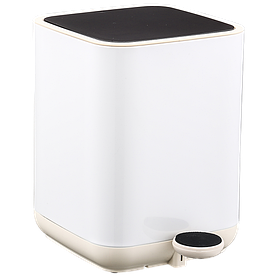 Ведро для мусора Nordic Style JAH 5 л (цвет белый, внутреннее ведро)