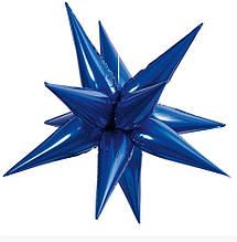 3 D Зірка синя фольгована 65*65  Китай
