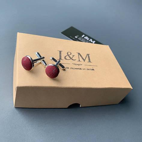 Запонки I&M Craft  бордо в перцы (500116Z), фото 2
