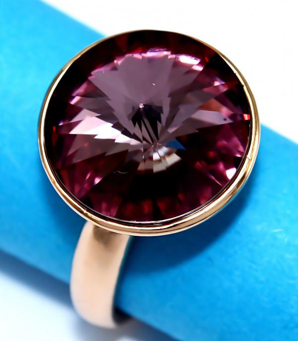 Кольца с кристаллами Swarovski фирмы XUPING. Цвет позолота. Есть: 16р. 17р. 21р.   Ширина: 15 мм.