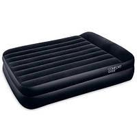 Двуспальная надувная велюровая кровать Bestway 67403, черная