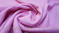 Пальтовая ткань букле розового цвета