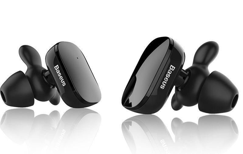 Наушники Baseus Encok W02 Truly Wireless headset Black (NGW02-01)