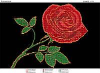 """""""Золотая роза"""".  Схема для вышивки бисером"""