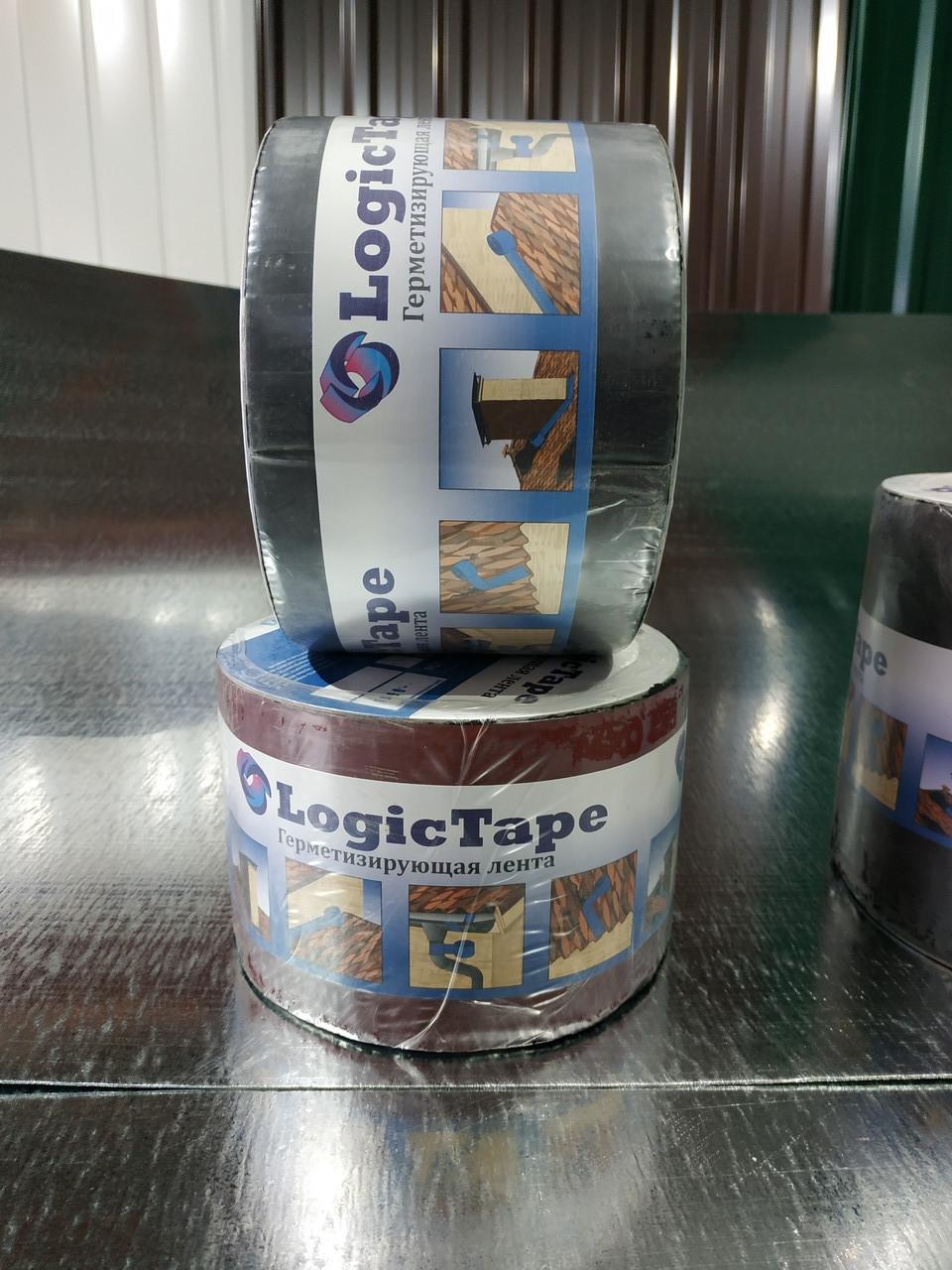 Бутилкаучукова стрічка Logic Tape Коричневий 50мм /10м