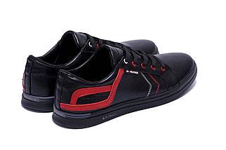 Мужские кожаные кеды в стиле T.Hilfiger Aircross Black черные, фото 2
