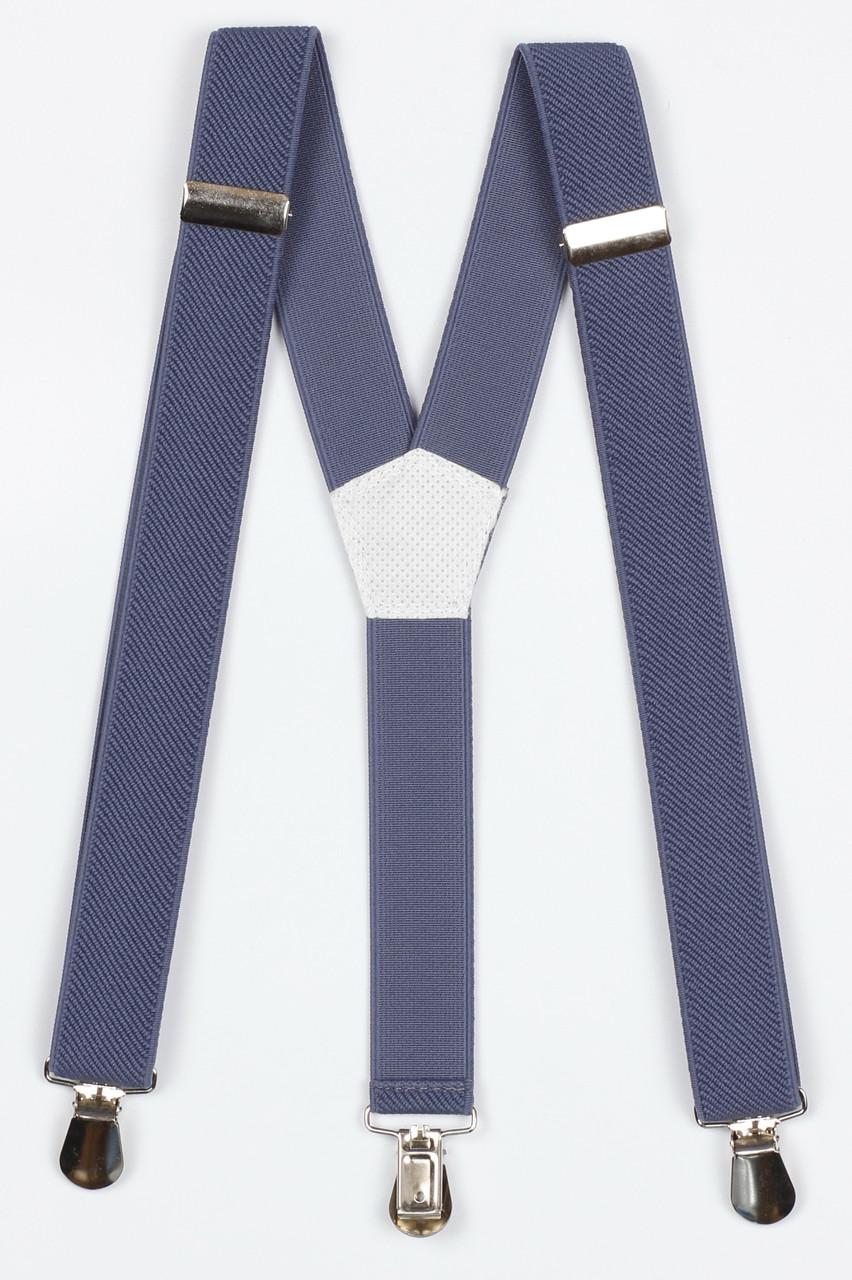 Подтяжки подростковые узкие Y25 Top Gal светлый джинс однотонные цвета в ассортименте