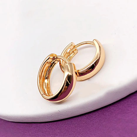Серьги детские Xuping Jewelry колечки Классика медицинское золото, позолота 18К А/В 4954