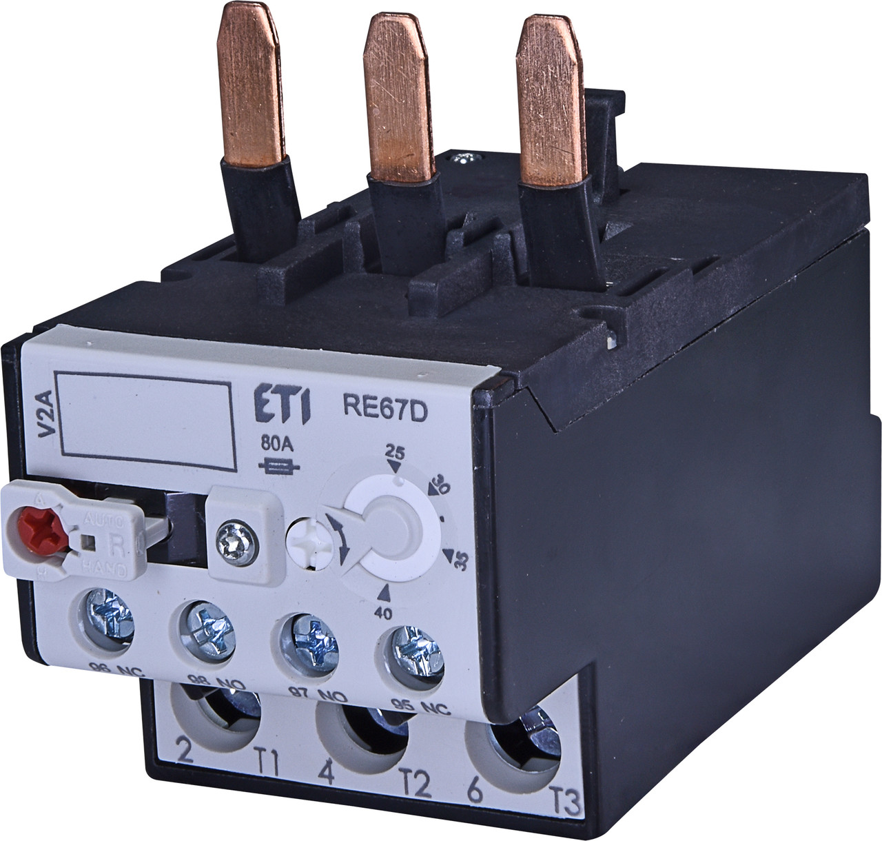 Тепловое реле ETI RE 67.1D-40 (25-40A) CEM32-CEM40 4643415 (для контакторов CEM32-CEM40)