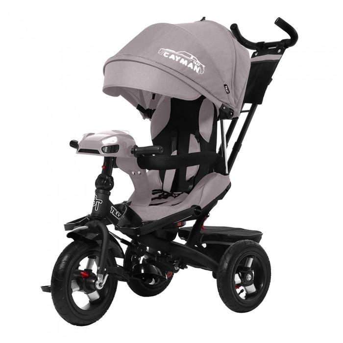 Велосипед трехколесный детский Tilly Cayman T-381/2 с пультом и усиленной рамой, бежевый лен