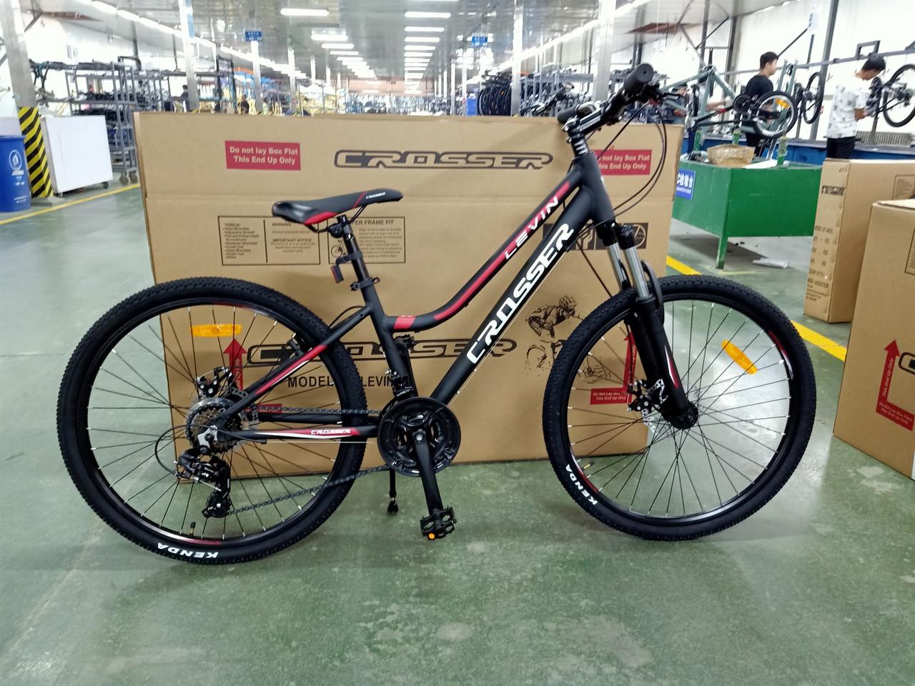 Велосипед CROSSER 24  LEVIN 12 2020 года Черно\Красный цвет