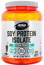 Протеин изолят соевый, Now Foods, Soy Protein Isolate, 910 gram