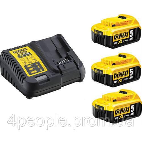 Зарядное устройство DeWALT DCB115P3 Li-Ion 10.8 В/14.4 В/18 В/54 В XR + 3 аккумулятора DCB184 5 А*ч