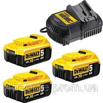 Зарядное устройство DeWALT DCB115P3 Li-Ion 10.8 В/14.4 В/18 В/54 В XR + 3 аккумулятора DCB184 5 А*ч, фото 3