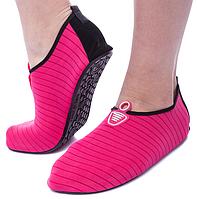 Неопреновая обувь аквашузы Skin Shoes малиновые в полоску 34-40