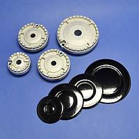 Комплект горелок с крышками для газовой плиты Hansa, Kaiser (8000639, 8000636, 8000633)