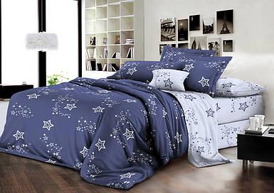 Комплект постельного белья евро на резинке 200*220 хлопок (13817) TM KRISPOL Украина